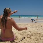 Harvey mit Miss Kelly auf Fuerteventura